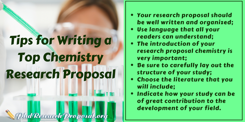 chemistry research proposal writing tips