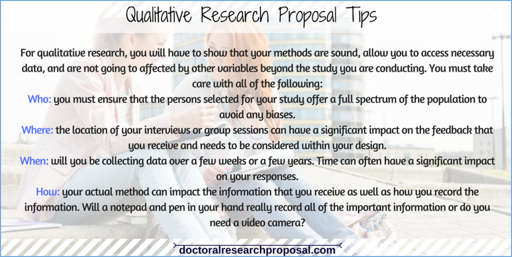 qualitative research proposal tips