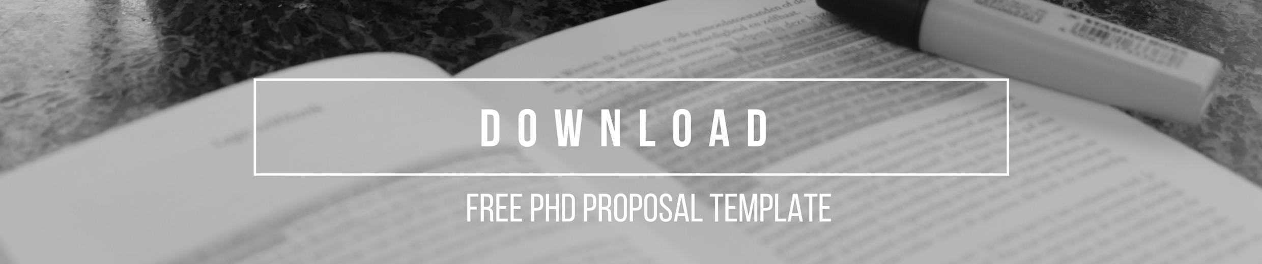 PhD Research Proposal Template Download